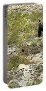 Grizzly Watching People Watching Grizzly No. 3 Portable Battery Charger