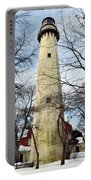 Grosse Point Lighthouse Winter Portable Battery Charger