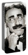 Groucho Marx, Vintage Comedy Actor Portable Battery Charger