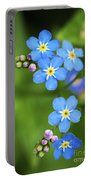 Group Of Blue Flowers Forget-me-not Portable Battery Charger