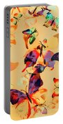 Group Of Butterflies With Colorful Wings Portable Battery Charger