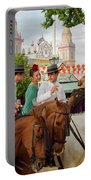 Group Of Couples On Horseback Drinking And Partying At The Sevil Portable Battery Charger