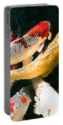 Group Of Koi Fish Portable Battery Charger