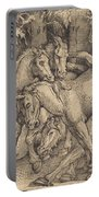 Group Of Seven Horses In Woods Portable Battery Charger