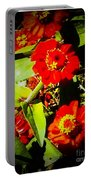 Group Of Small Red Zinnia's Portable Battery Charger