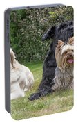 Group Of Three Dogs Portable Battery Charger