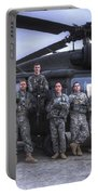 Group Photo Of Uh-60 Black Hawk Pilots Portable Battery Charger