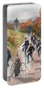 Group Riding Penny Farthing Bicycles Portable Battery Charger