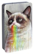 Grumpy Cat Tastes The Rainbow Portable Battery Charger