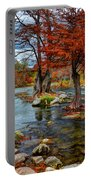 Guadalupe River In Autumn Portable Battery Charger