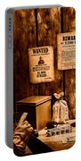 Guarding The Payroll - Sepia Portable Battery Charger