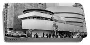Guggenheim Museum Nyc Bw Portable Battery Charger