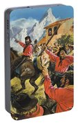 Guiseppe Garibaldi And His Army In The Battle With The Neopolitan Royal Troops Portable Battery Charger