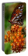 Gulf Fritillary On Butterflyweed Portable Battery Charger
