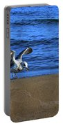 Gull On The Beach  Portable Battery Charger