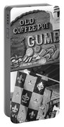 Gumbo Sign - Black And White Portable Battery Charger