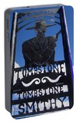Gunfighter In Metal Welcome Sign 1 Allen Street Tombstone Arizona 2004 Portable Battery Charger