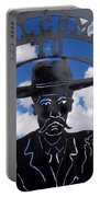 Gunfighter In Metal Welcome Sign  2 Allen Street Tombstone Arizona 2004 Portable Battery Charger