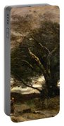 Gust Of Wind Portable Battery Charger by Jean Baptiste Camille Corot