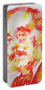 H. G. Wells - Watercolor Portrait Portable Battery Charger