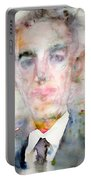 H. P. Lovecraft - Watercolor Portrait.3 Portable Battery Charger