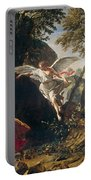 Hagar And Ishmael In The Wilderness Portable Battery Charger