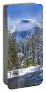 Half Dome And The Merced River Portable Battery Charger