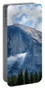 Half Dome In The Clouds Portable Battery Charger