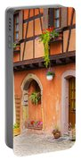 Half-timbered House Of Eguisheim, Alsace, France.  Portable Battery Charger