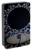 Hall Sapphire And Diamond Necklace Portable Battery Charger