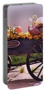 Halloween Cart Full Of Fall Harvest Goodies  Portable Battery Charger