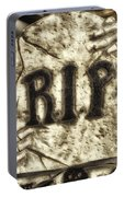 Halloween Rip Rest In Peace Headstone Portable Battery Charger