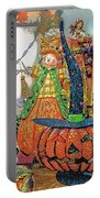 Halloween Scarecrow And Pumpkin Pa 02 Vertical Portable Battery Charger