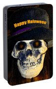 Halloween Skull With Hat Portable Battery Charger