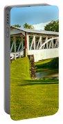 Halls Mill Covered Bridge Landscape Portable Battery Charger