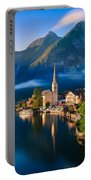 Hallstatt Is A Village In The Salzkammergut, A Region In Austria Portable Battery Charger