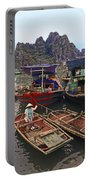 Halong Bay Harbor Scene Portable Battery Charger