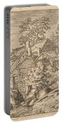 Hamlet On A Mountain Side Portable Battery Charger