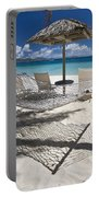 Hammock On The Beach Portable Battery Charger