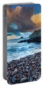 Hana Bay Pebble Beach Portable Battery Charger by Inge Johnsson