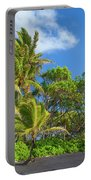 Hana Palm Tree Grove Portable Battery Charger by Inge Johnsson