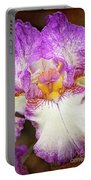 Hand Tinted Iris Portable Battery Charger
