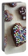 Handmade Decorated Gingerbread Heart And People Figures Portable Battery Charger