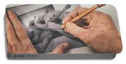 Hands Drawing Hands Portable Battery Charger