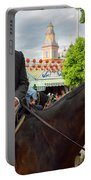 Handsome Man And Beautiful Woman Drinking On Horseback With 2015 Portable Battery Charger