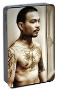 Handsome Man With Tattoos. #thailife Portable Battery Charger