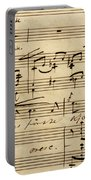 Handwritten Score For Hjertets Melodier, Opus 5 Portable Battery Charger