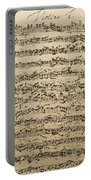 Handwritten Score For Mass In B Minor Portable Battery Charger