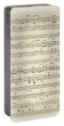 Handwritten Score For Waltz In Flat Major Portable Battery Charger