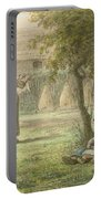 Hanging Out The Laundry By Jean-francois Millet Portable Battery Charger
